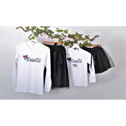 Σετ (4 τεμάχια) Φούστες Τουτου Μαύρη & Μπλούζες Minie-Minie Me