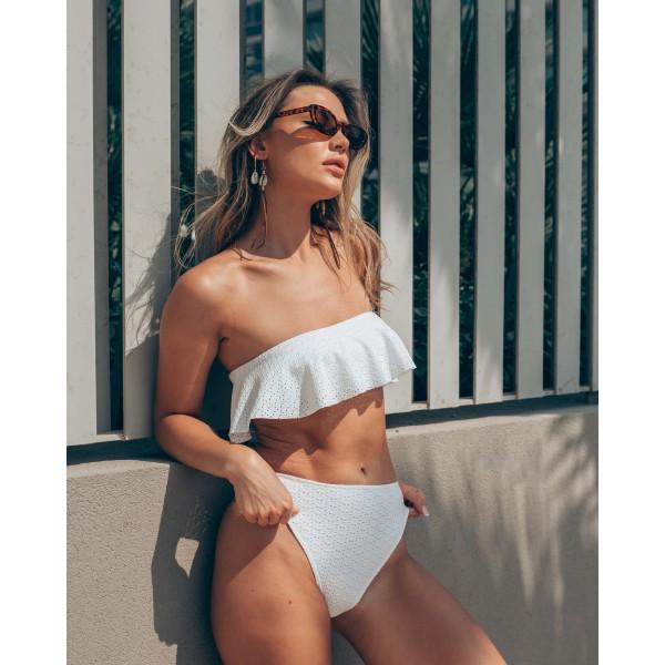 Bikini Bουάλ Στράπλες Βολάν