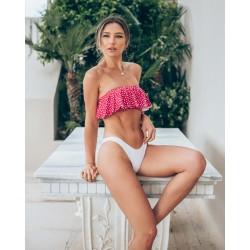 Bikini Στράπλες Βολάν