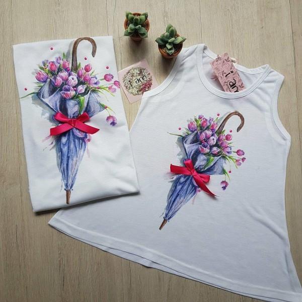 Φανέλα Παιδική Umbrella Flowers