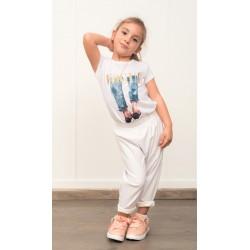 Παντελόνι Δερματίνη Παιδικό Λευκό