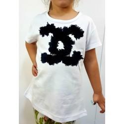 Παιδική Μπλούζα CC Μαύρο 3d Flowers