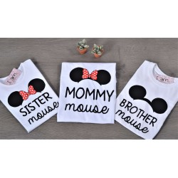 Family Set Μπλούζες (Σετ 3 τεμαχίων) Mommy Mouse, Brother Mouse, Sister Mouse